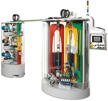 """1 pav. Aparato modelis, sukurtas bendradarbiaujant """"Eaton"""" ir sprendimų vystymo partneriui """"ATP Hydraulik"""", pagrįstas trimis skirtingomis pavaros koncepcijomis ir atskleidžia energijos vartojimo efektyvumo didinimo galimybes."""