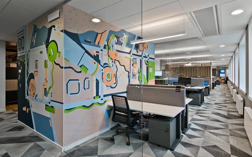 Valdymo sistema JUNG KNX, Danske banko biuras, 3